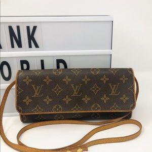 Louis Vuitton twin GM monogram crossbody bag